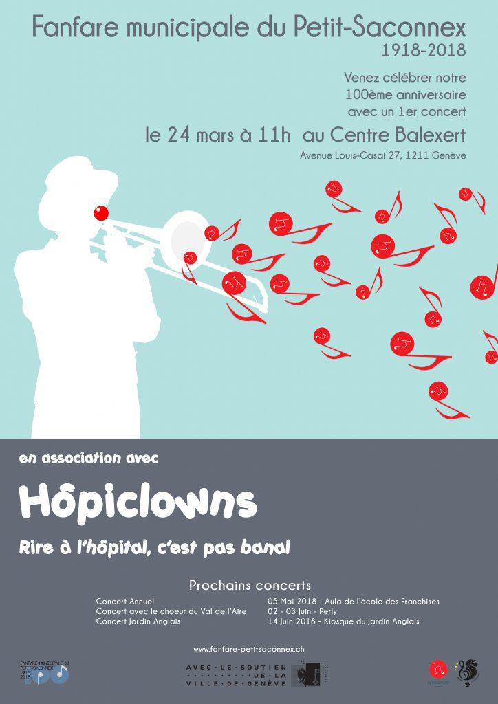 Fanfare municipale du Petit-Saconnex – 1er concert à Balexert