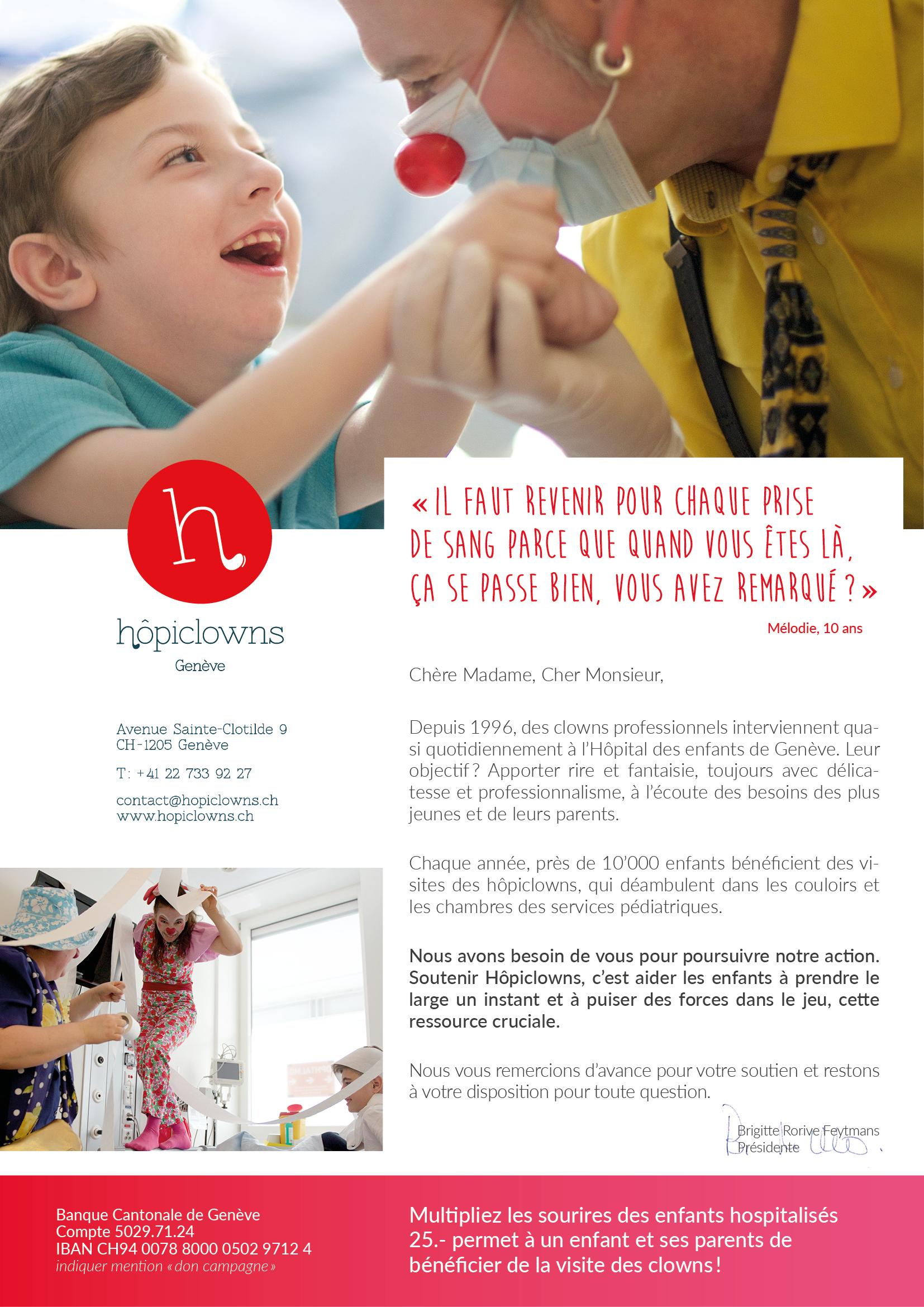 Campagne de recherche de donateurs