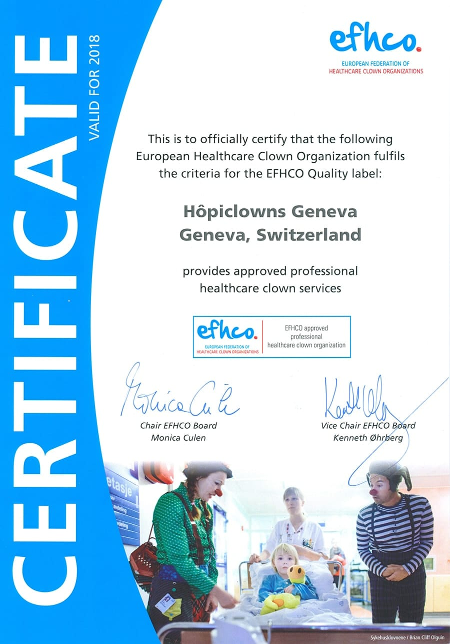 Hôpiclowns Certifical EFHCO